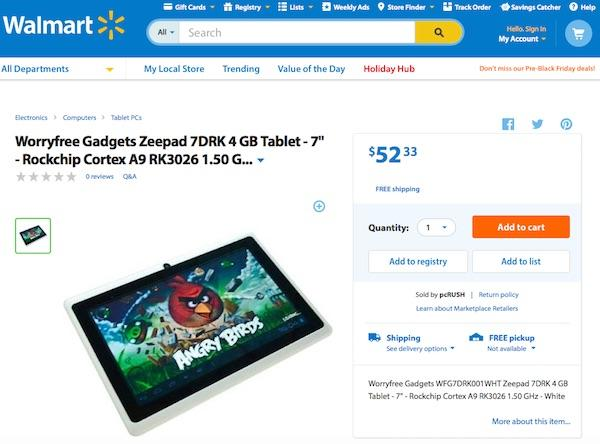 Walmart bad android tablet