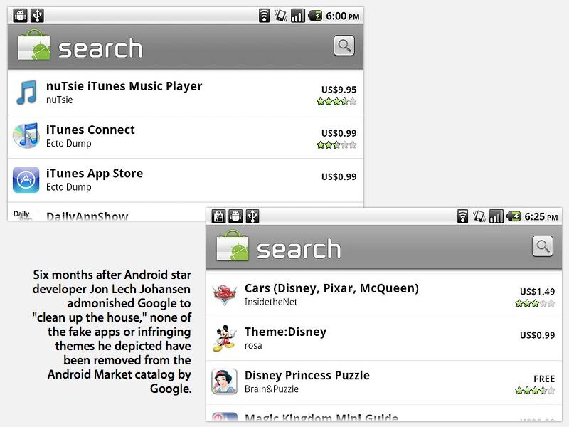 fakes and theft in Android Market