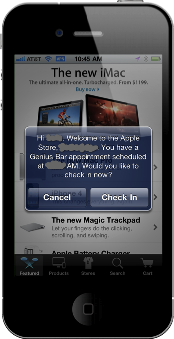 Apple Retail Check-in