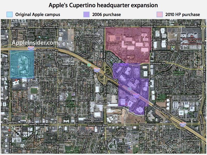 Apple land Cupertino