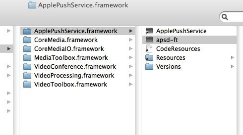 Apple Push Service framework