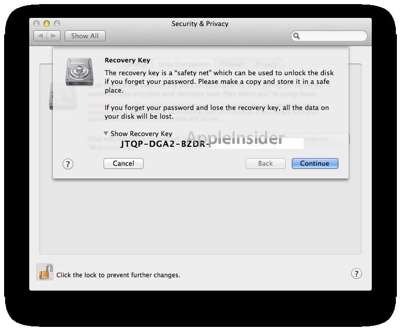 Lion FileVault