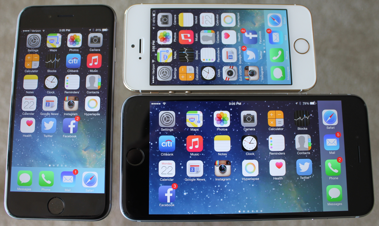 iPhone 6 landscape UI