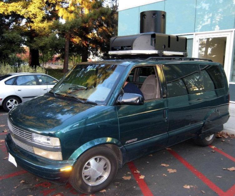 Google's prototype Street View van.