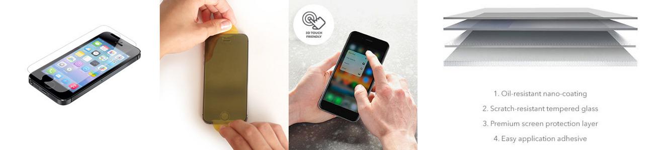 ZAGG Glass iPhone SE Screen Protector