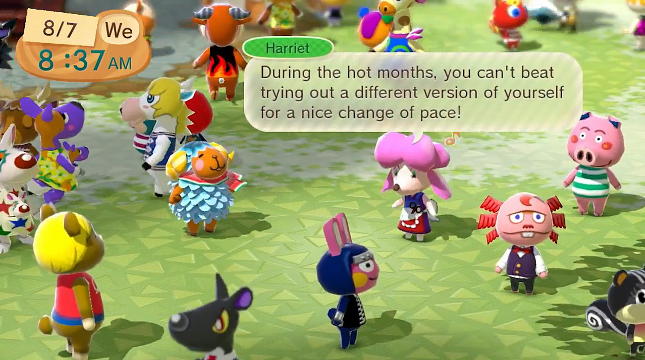 Animal Crossing Plaza for the Wii U.