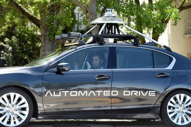 One of Honda's self-driving prototypes.