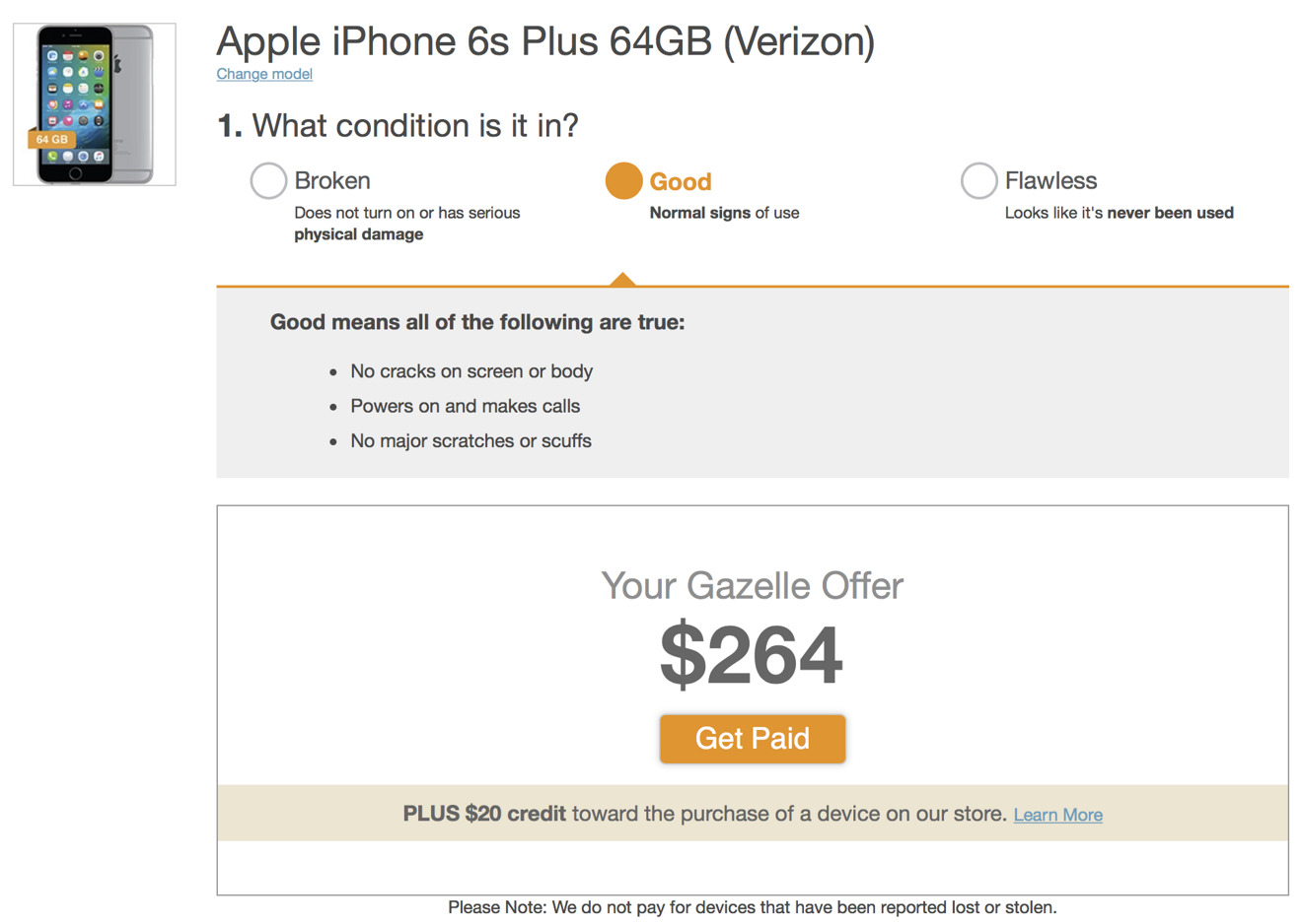 iPhone trade in values Gazelle