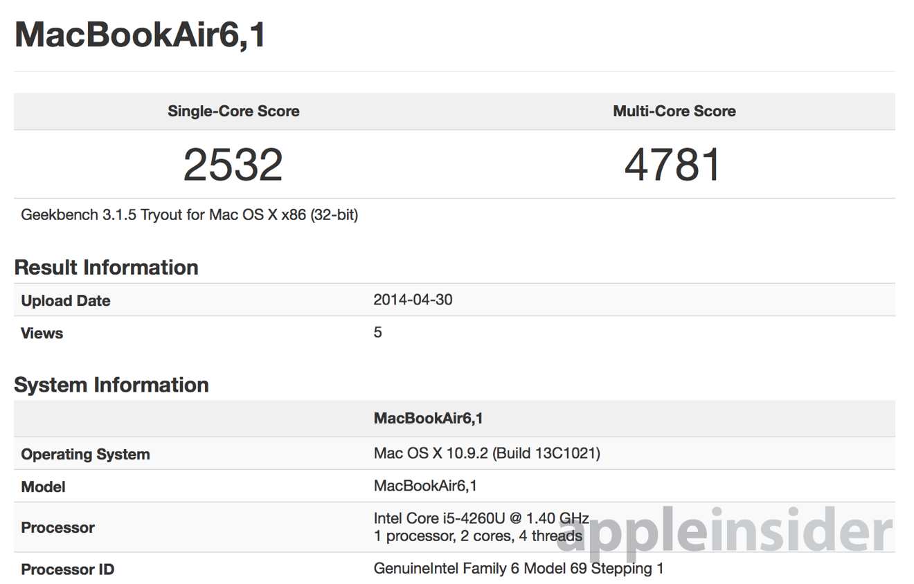 2014 MacBook Air benchmarks show slight performance boost from ...