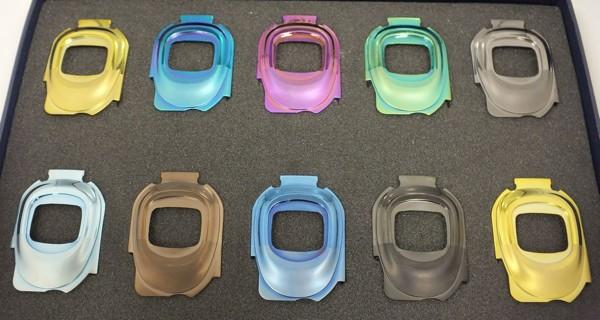 A number of cast Liquidmetal casings for mobile phones | Source: Liquidmetal