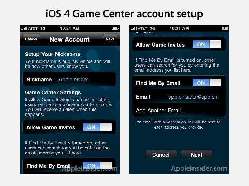 iOS4 Game Center