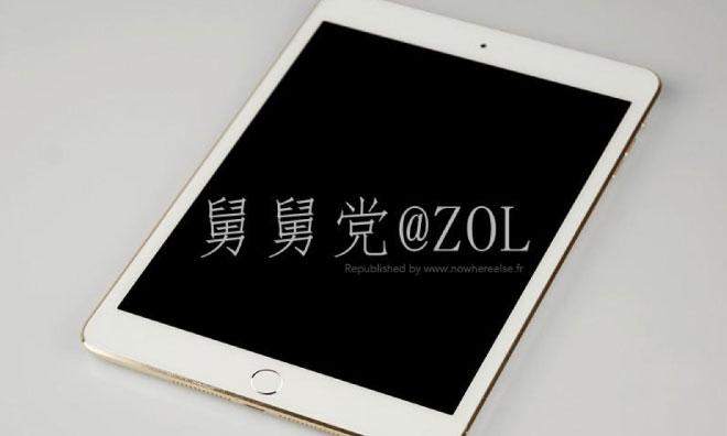 Purported gold iPad mini with Touch ID