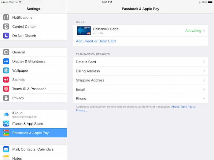 Passbook & Apple Pay