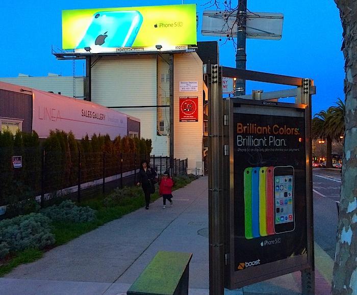 iPhone 5c billboard