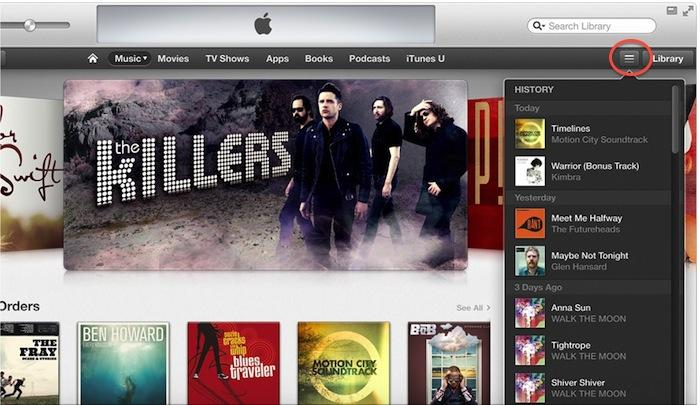 iTunes 11 play history