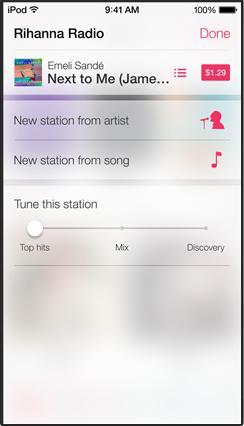 iOS 7 iTunes Radio edit