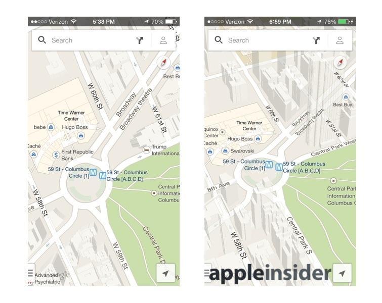 Google Maps standard