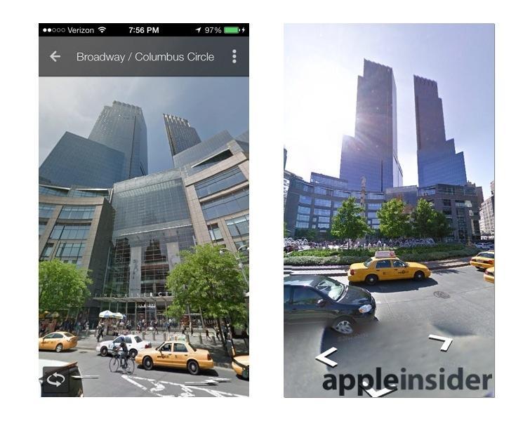 Google Maps iOS app Street View