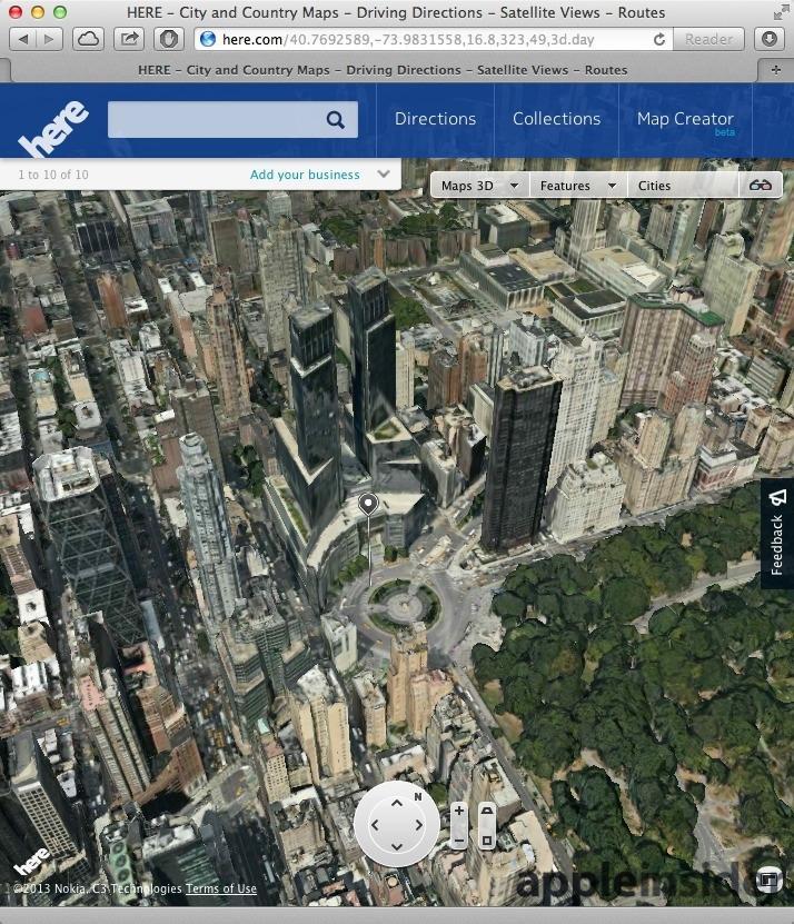 Nokia Maps 3D