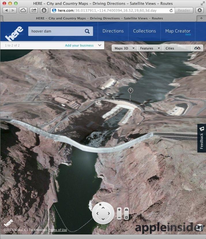 Nokia 3D Maps Hoover Dam