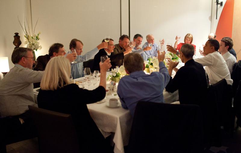 Jobs Obama 2011 dinner