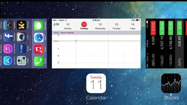 iOS 7 task switcher