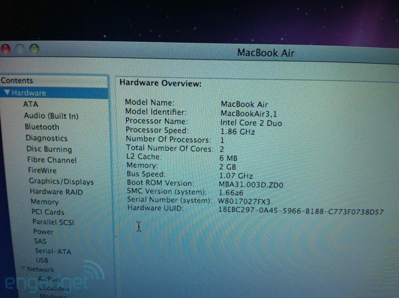 MacBook Air Rumor Screenshot