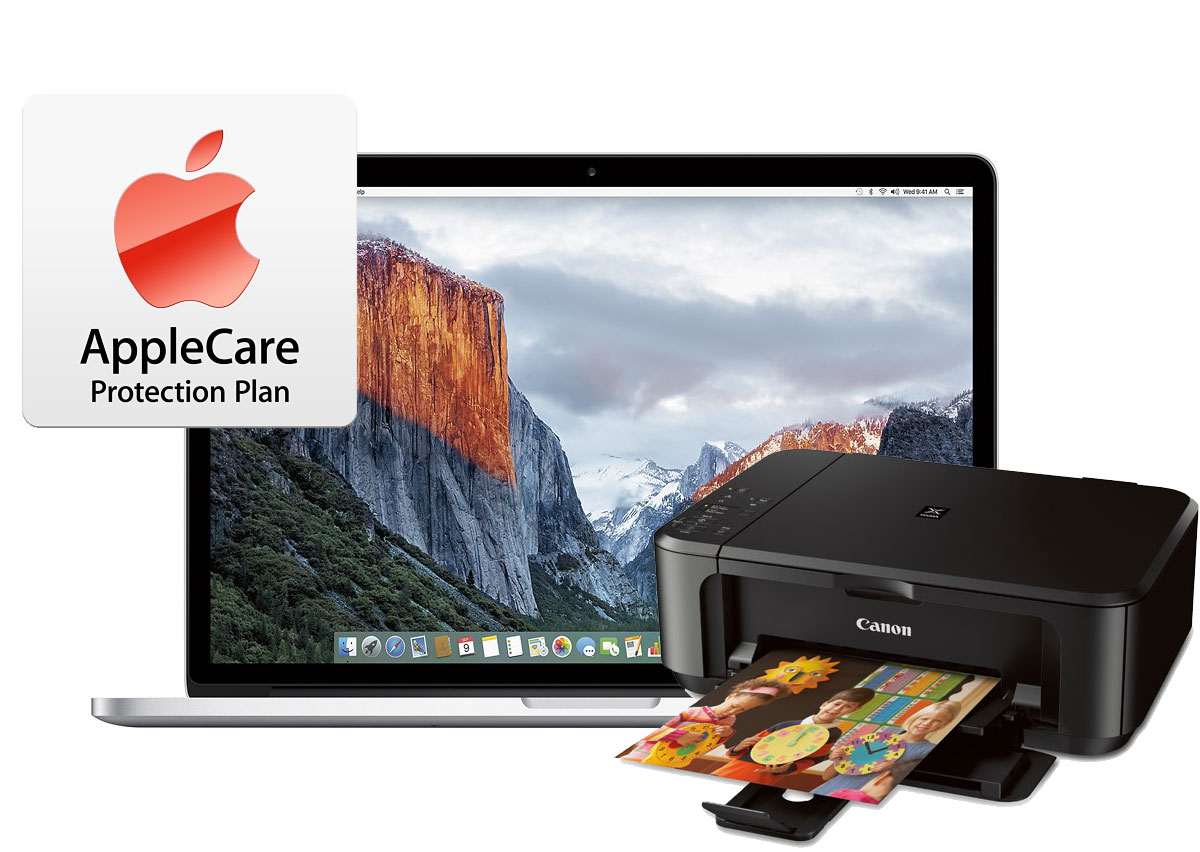 15 inch MacBook Pros with AppleCare and Free Canon PIXMA MG3520 Wireless AirPrint Inkjet Photo All-in-One Printers