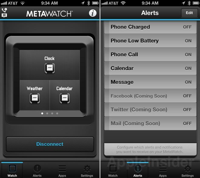 MetaWatch app