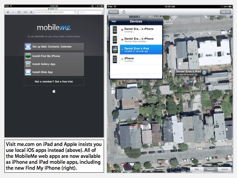 MobileMe iOS