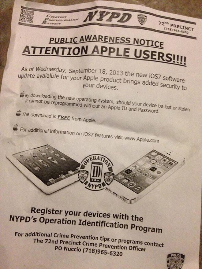 NYPD law enforcement iPhone encryption