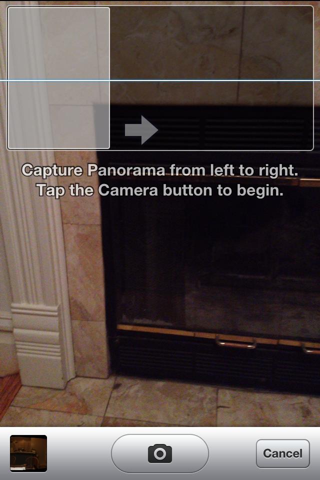 Hidden Panorama mode in iOS