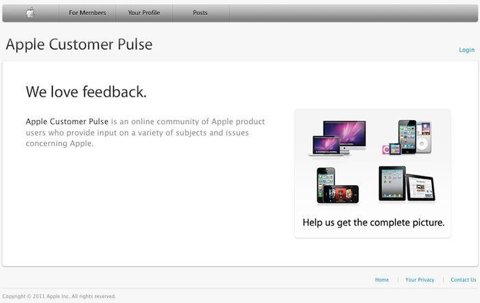 Apple Customer Pulse website