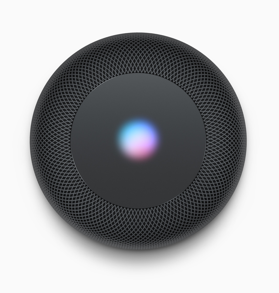 The light on top of the HomePod gives you the status of Siri and activity