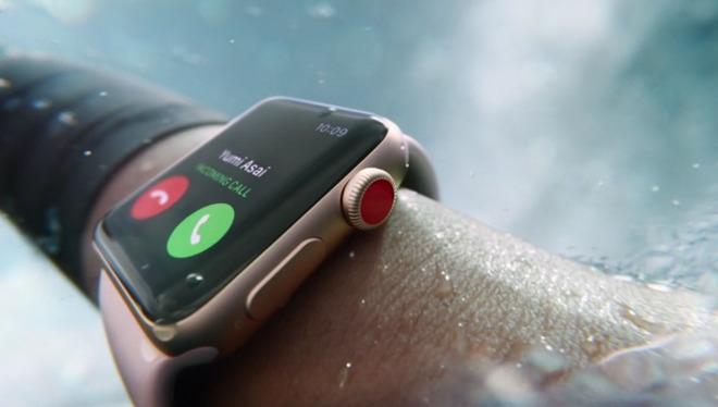 The Apple Watch is water resistant to 50 meters