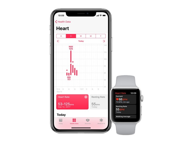 Apple Watch heart rate app with iPhone