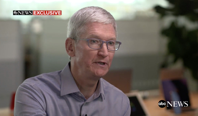 Tim Cook is now regularly interviewed on political issues