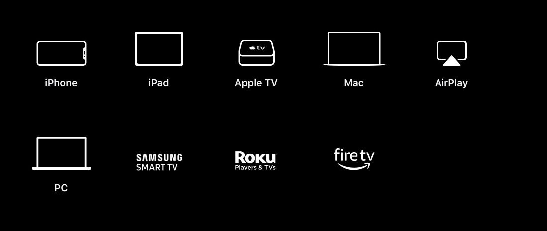 Devices that can play Apple TV+
