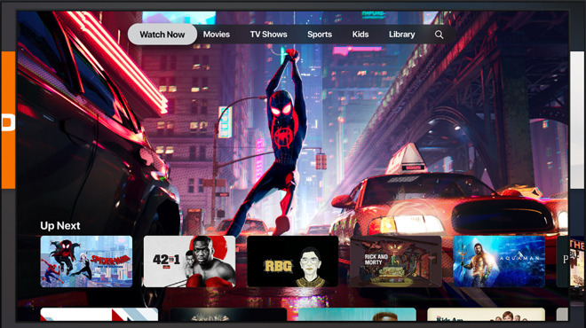 The Apple TV app aggregates data from multiple streaming services into one app experience