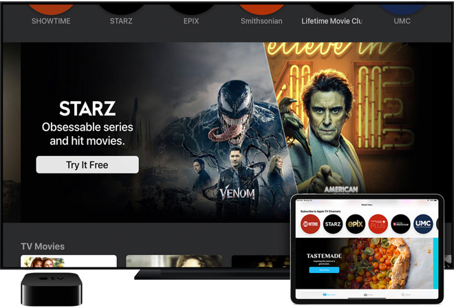 Channels are a part of your Apple account and sync across all devices, including Apple TV 4K