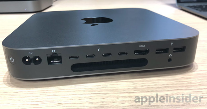 This Mac has plenty of ports for users
