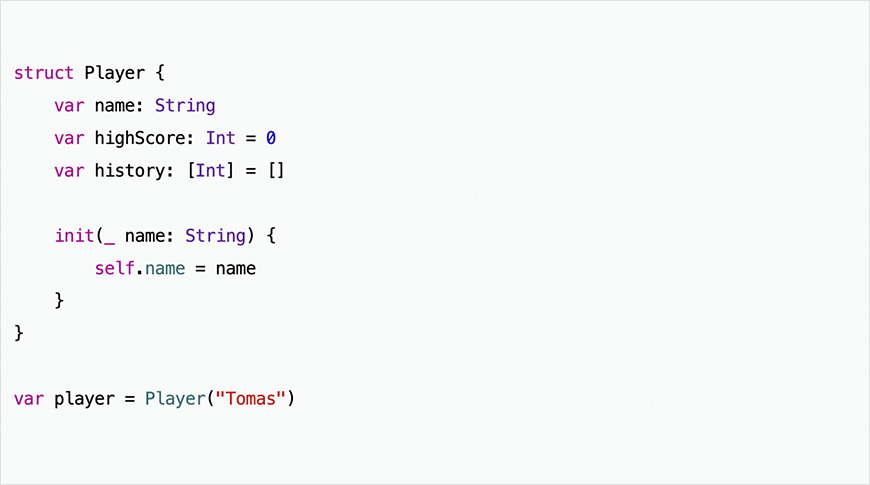 Example of simple code