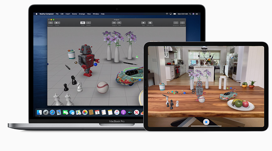 Place virtual objects into the real world using AR