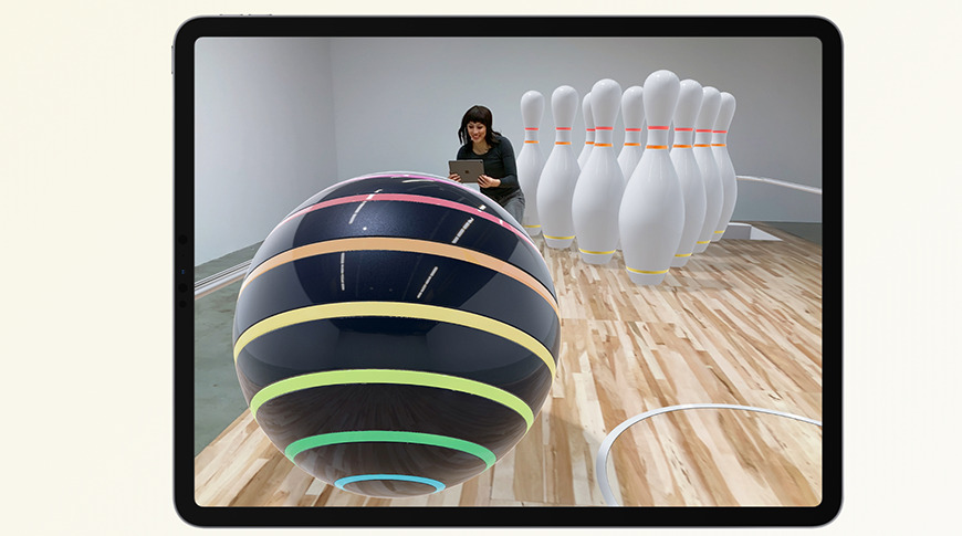 Virtual bowling is just one of many experiences enabled by ARKit
