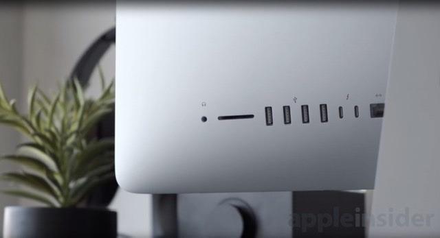 The ports on an iMac