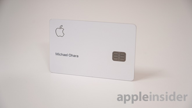 An Apple credit card