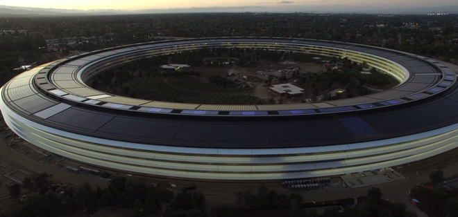 The main building at Apple Park, called The Ring