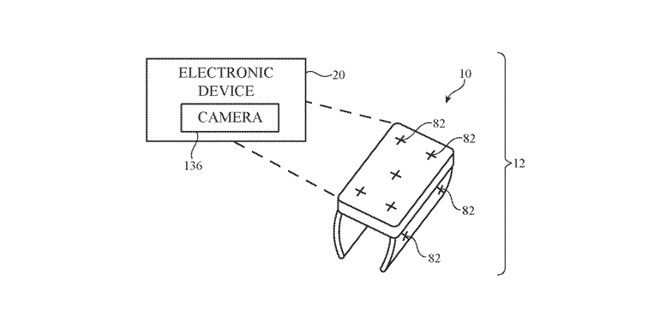 Patent mockup of a smart ring with camera