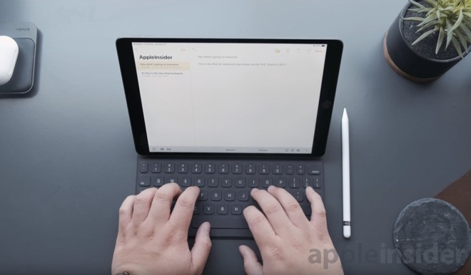 The Smart Keyboard offers a good typing experience on the iPad Air 3