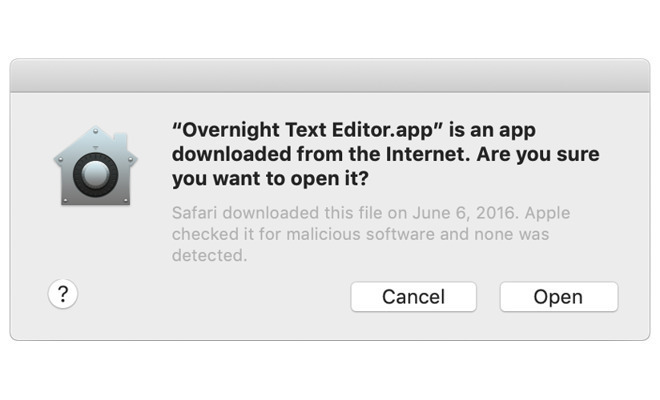 App dialog boxes will appear much more often in macOS Catalina.